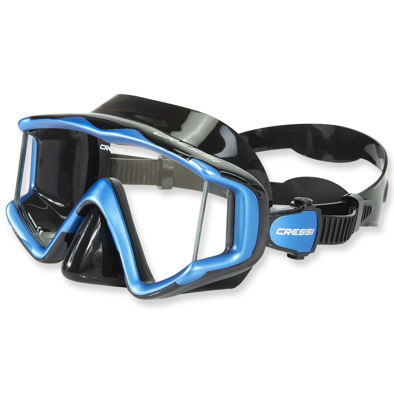 Cressi Liberty Triside Maske - schwarzes Silikon 3-Glas 3-Glas 3-Glas Bauweise 2e8d9c